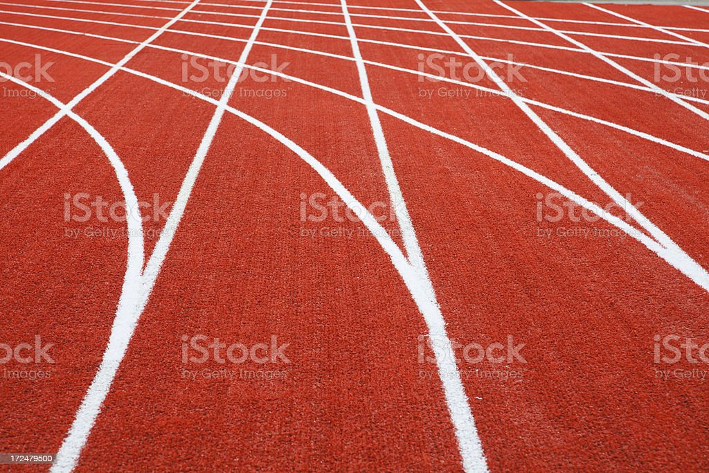 racetrack for runners royalty-free stock photo