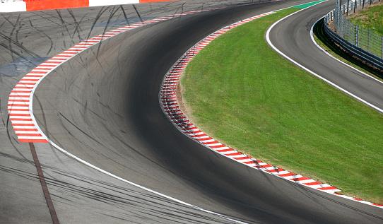 Racetrack Stockfoto und mehr Bilder von Asphalt
