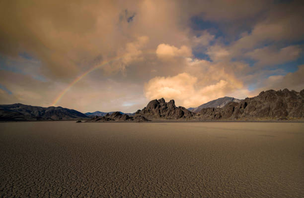Racetrack Playa, Death Valley NP stock photo