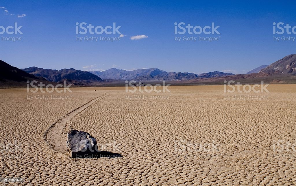 Racetrack Playa, Death Valley NP stock photo