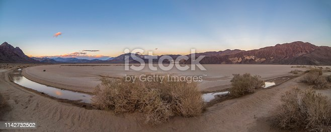 Desert, Salt - Mineral, Horizon, Lake, California