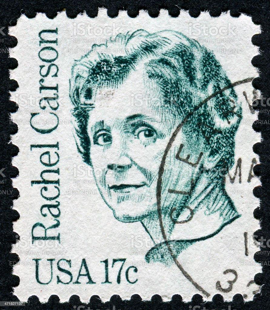 Rachel Carson Stamp royalty-free stock photo