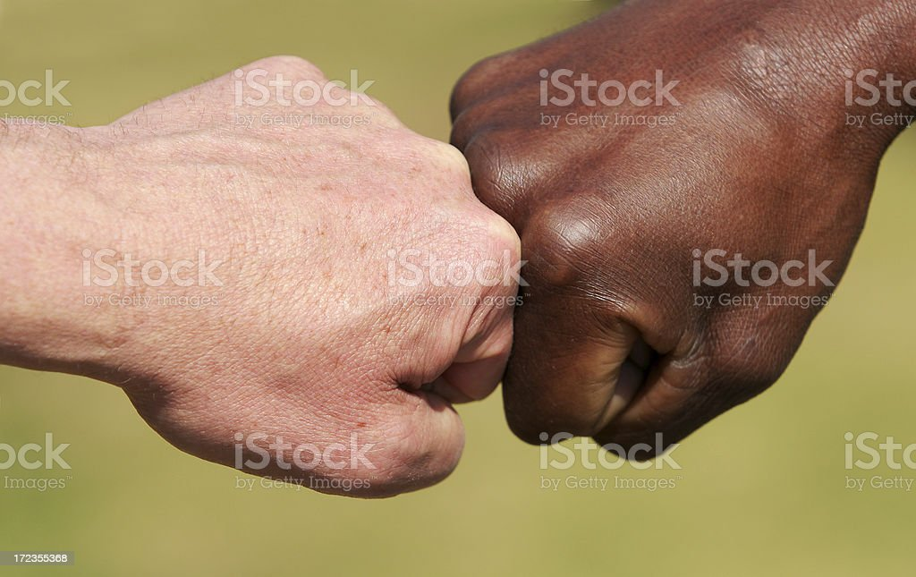 Racial Tension two royalty-free stock photo