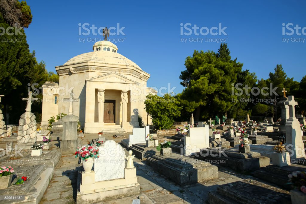 Racic family mausoleum in Cavtat stock photo