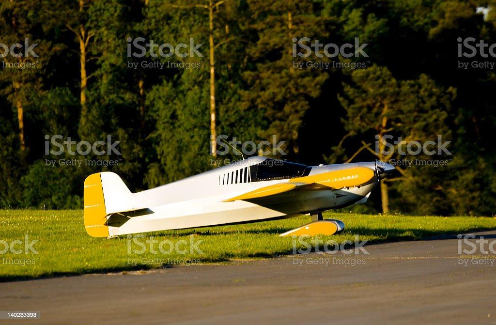 Racing aircraft royalty-free stock photo