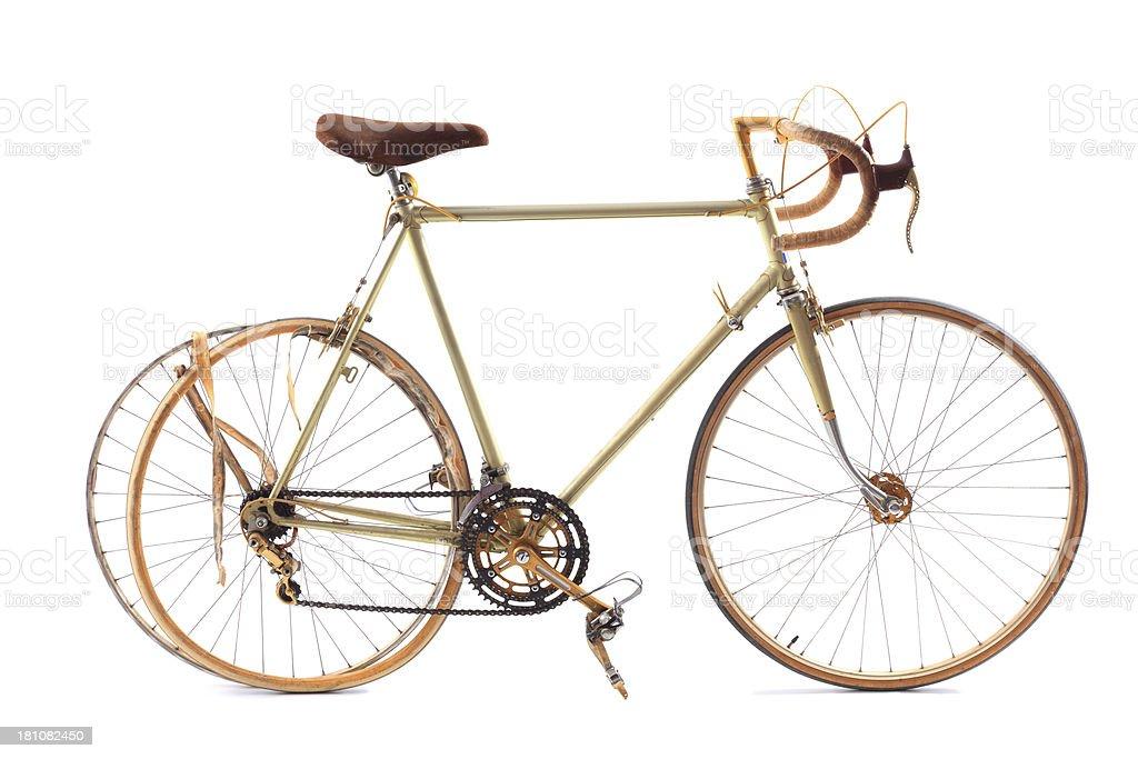 Bicicleta de carreras Aislado en blanco - foto de stock