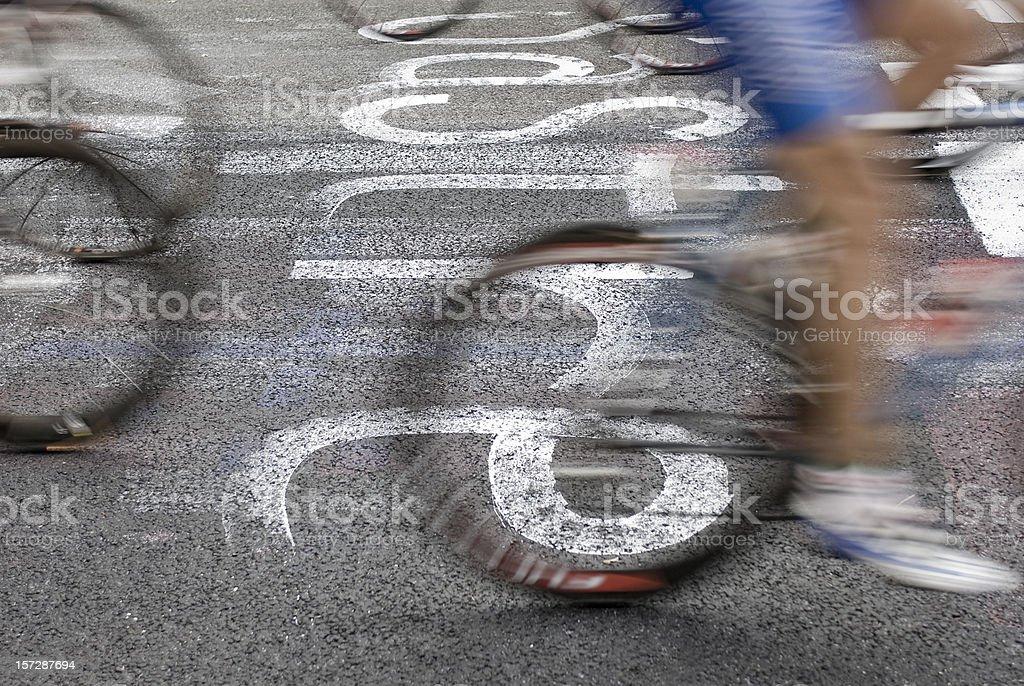 Racing Bicycle World Championship stock photo