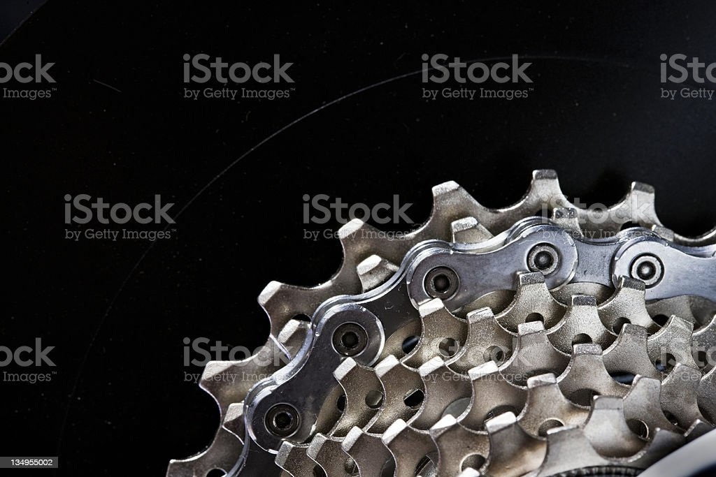 Racing bike gear cluster stock photo