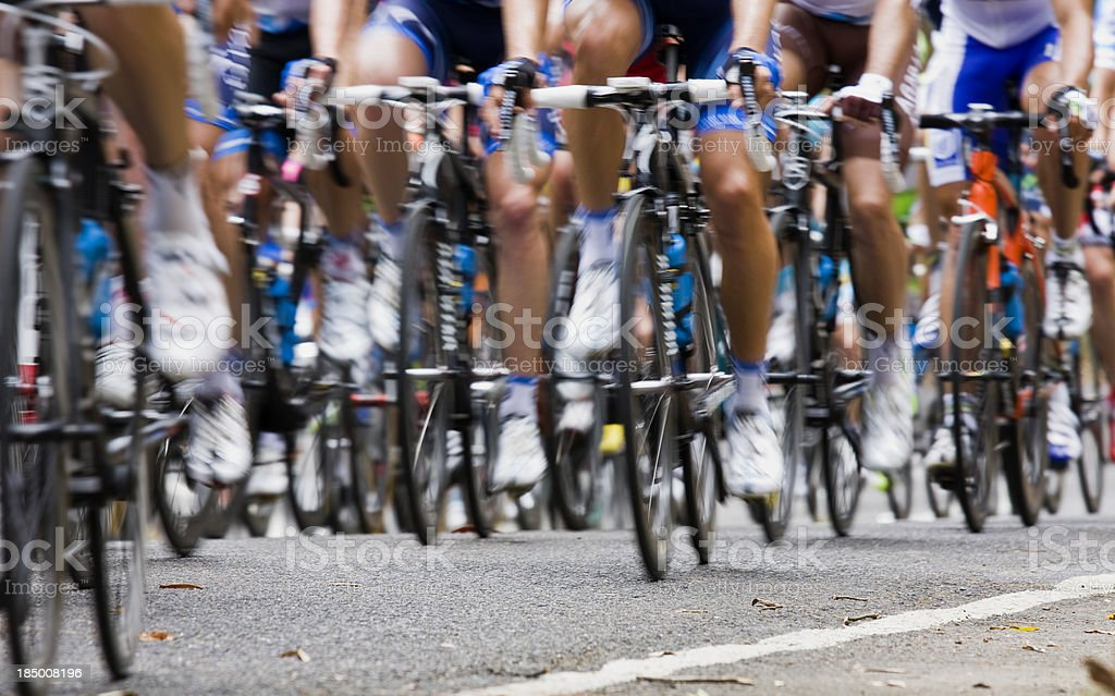 Racing bikes stock photo