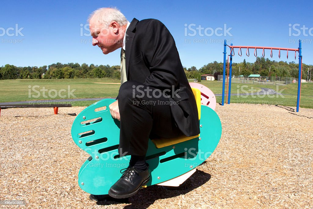 Racing Businessman stock photo