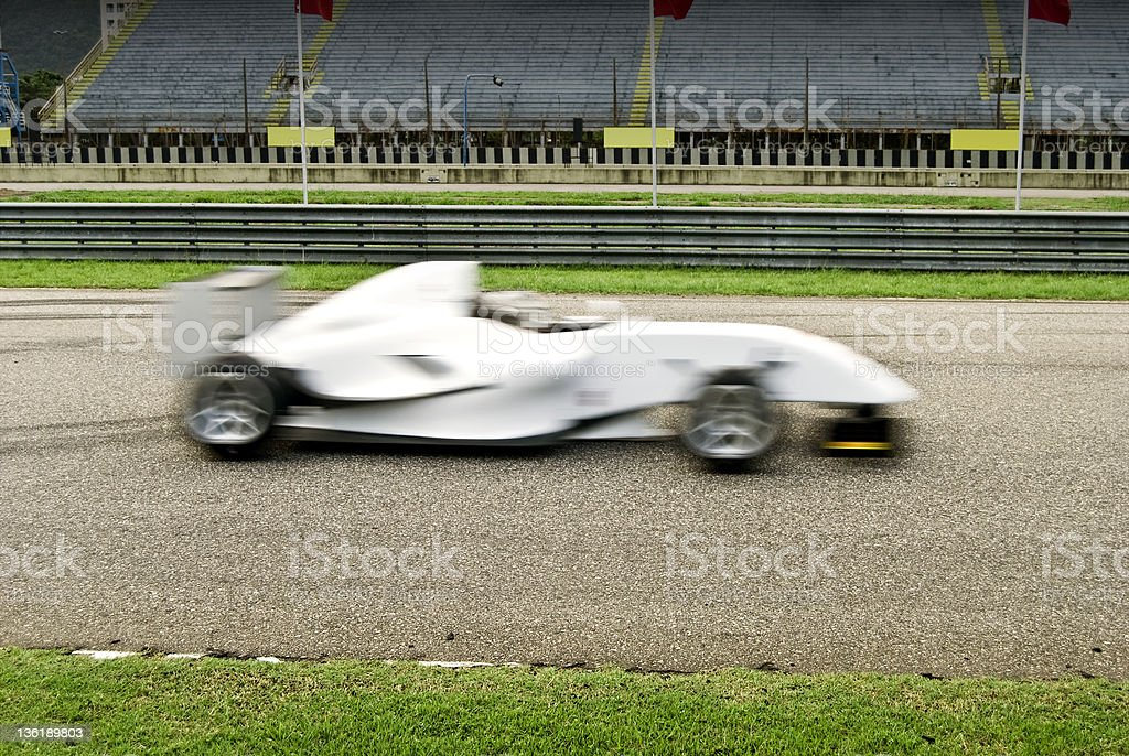 Racing Car - Motion Blur royalty-free stock photo
