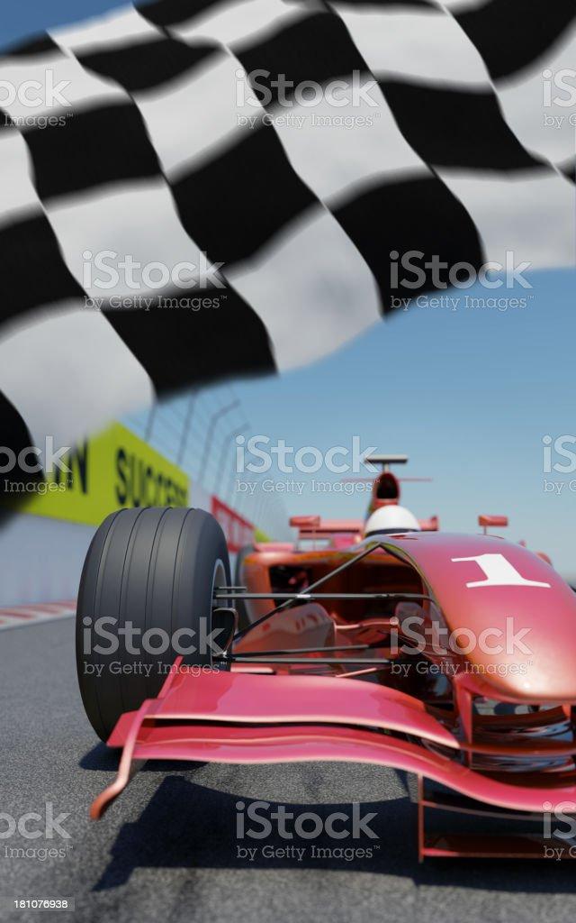 Coche de carreras - foto de stock