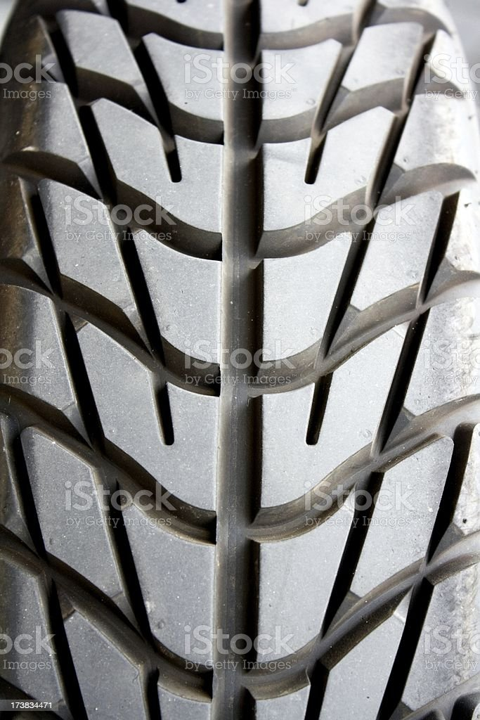 Racing car tires tread closeup stock photo