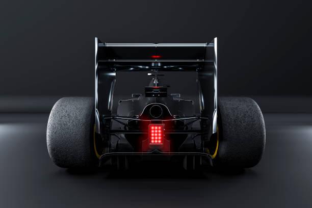 vista del coche de carreras desde atrás - render estudio - irl indycar series fotografías e imágenes de stock