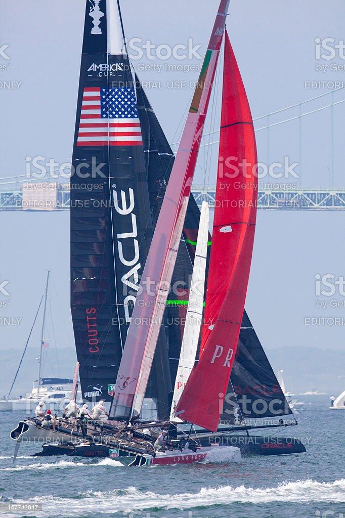 Racing Catamarans stock photo