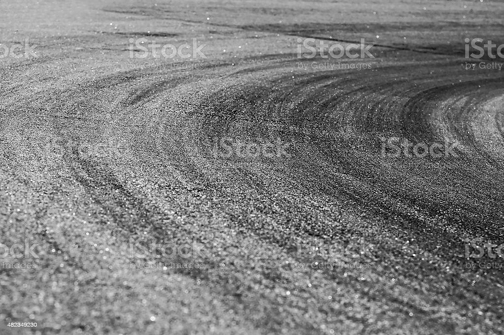 Racing curve stock photo