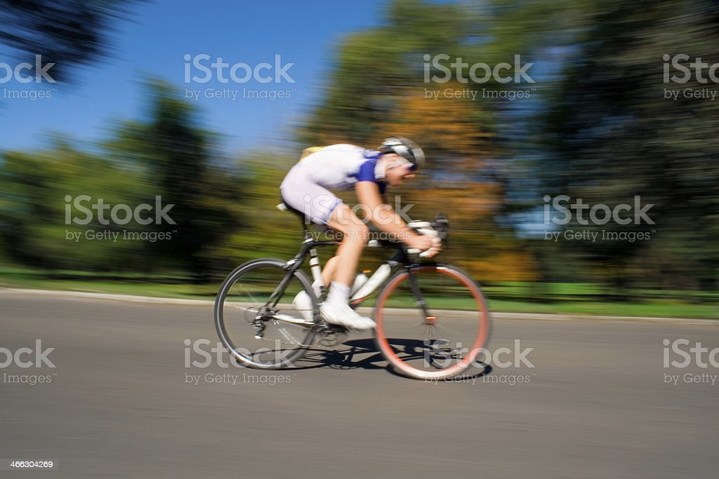 Racing Cyclist - Blurred Motion royalty-free stock photo