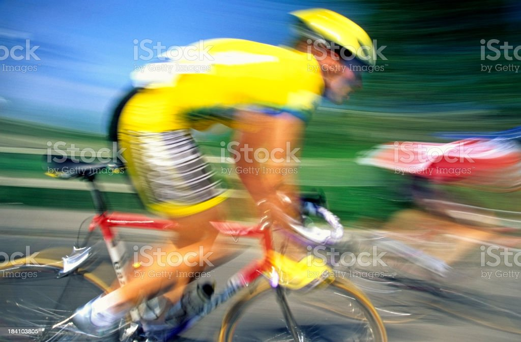 Racing Cyclist royalty-free stock photo