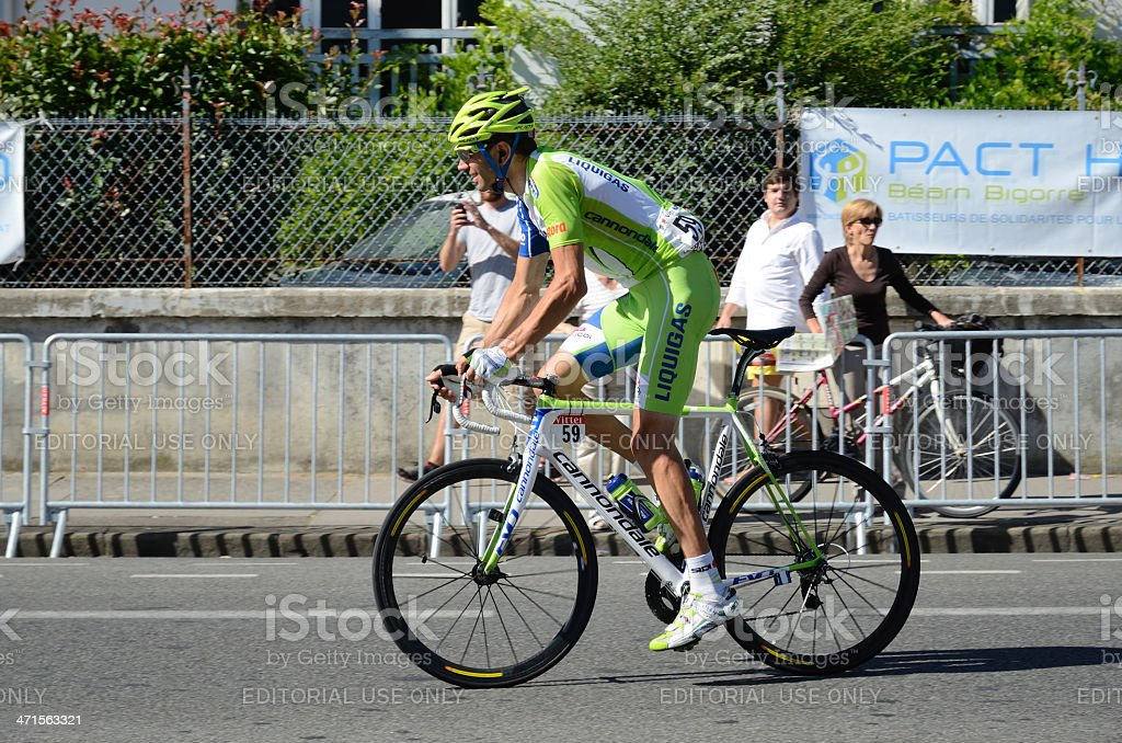 Racing cyclist Vanotti Alessandro at 'Tour de France' royalty-free stock photo