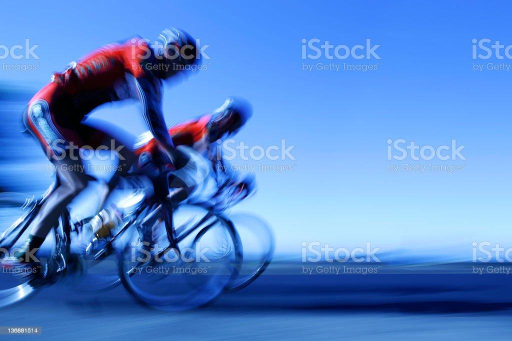 XXL racing cyclists stock photo
