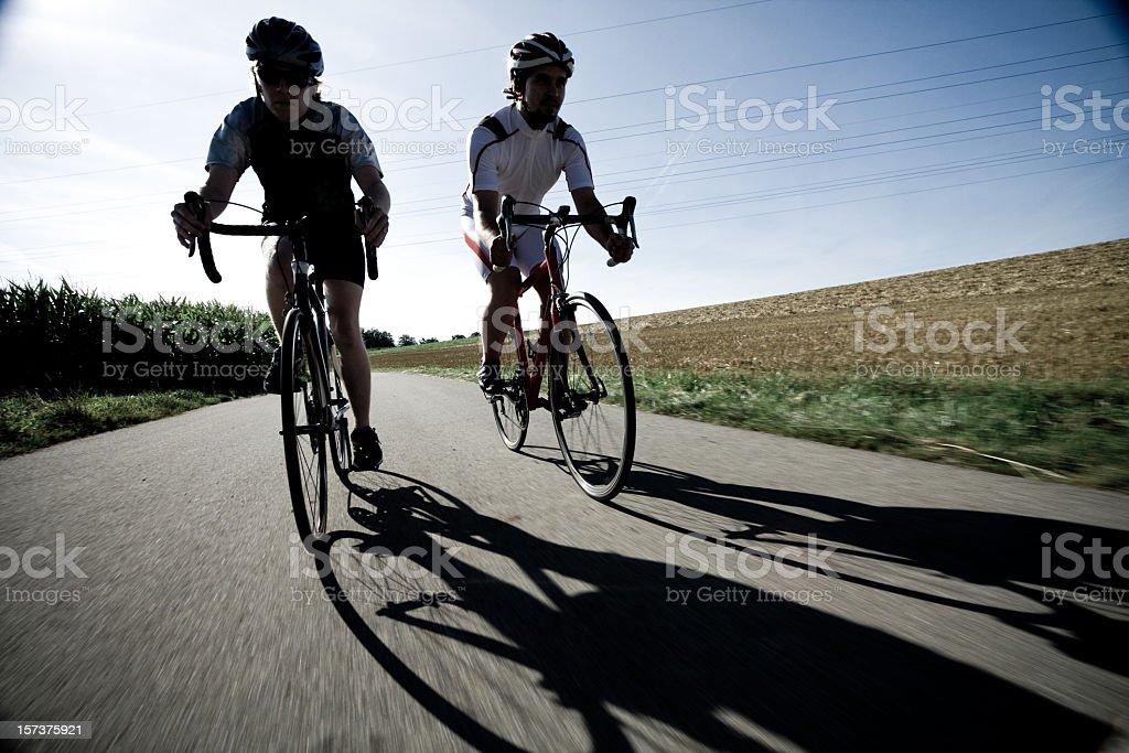 racing cyclists royalty-free stock photo
