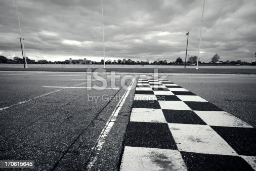 Grand Prix circuit finish line.