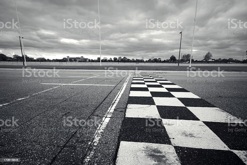 Racing Finish Line stock photo