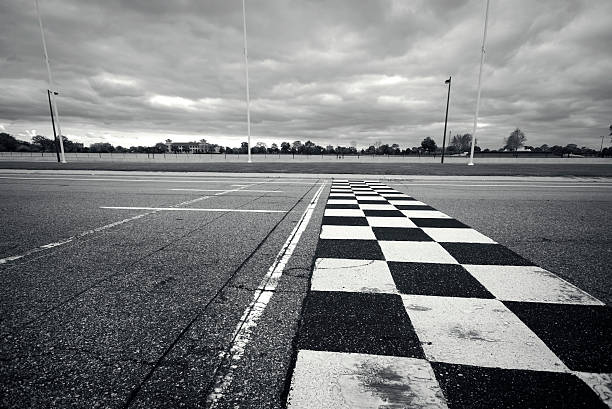 racing finish line - motorsport stock photos and pictures