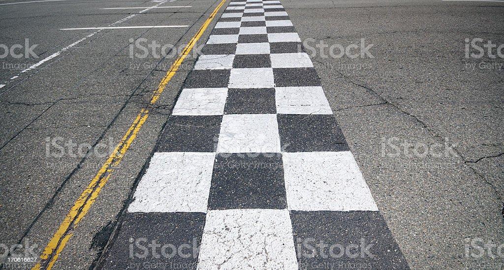 Racing Finish-Line bildbanksfoto