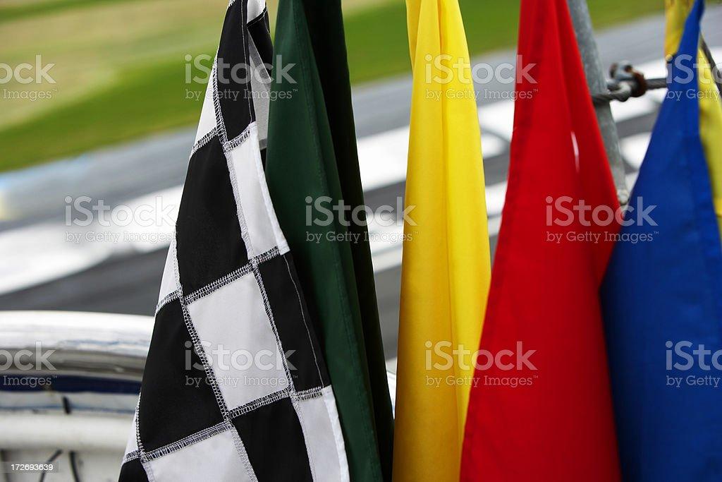 De carreras flags - foto de stock