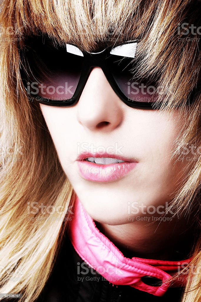 Racing Girl royalty-free stock photo