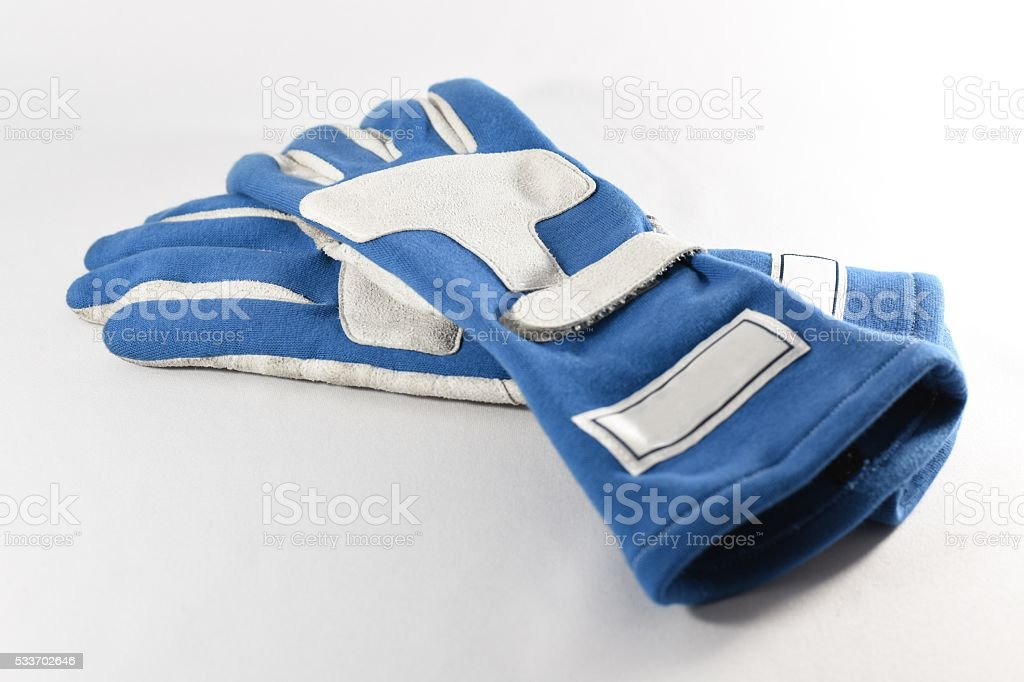 racing glove / driving glove / racing gear stock photo