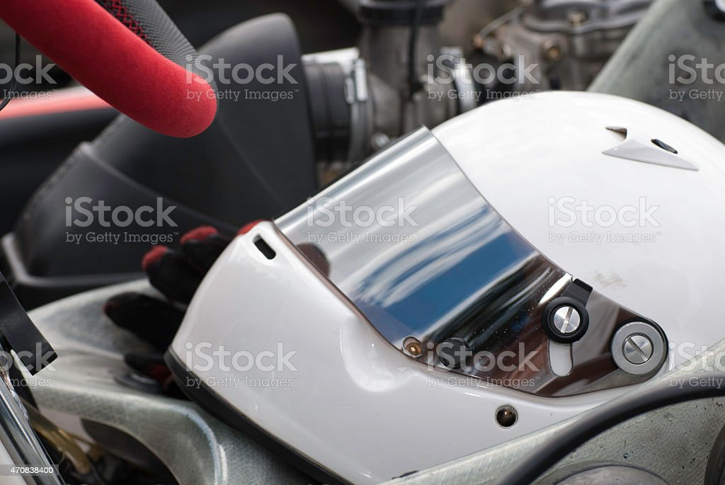 Racing helmet stock photo
