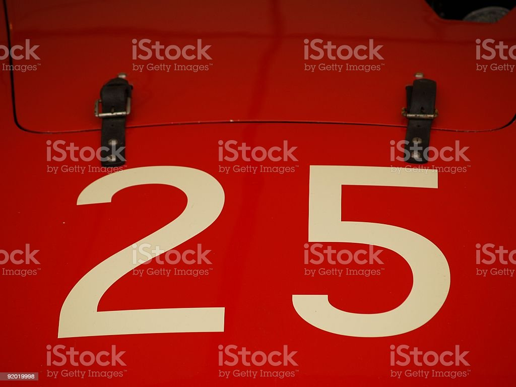 Racing Number 25 stock photo