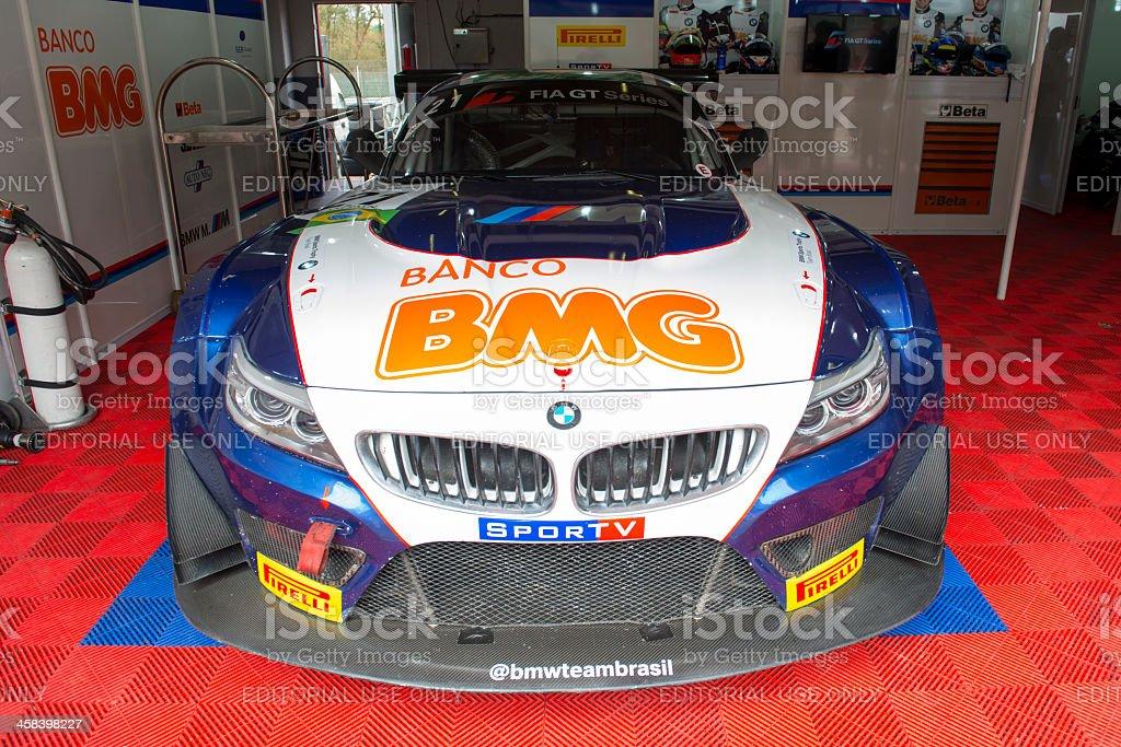BMW Z4 racing stock photo