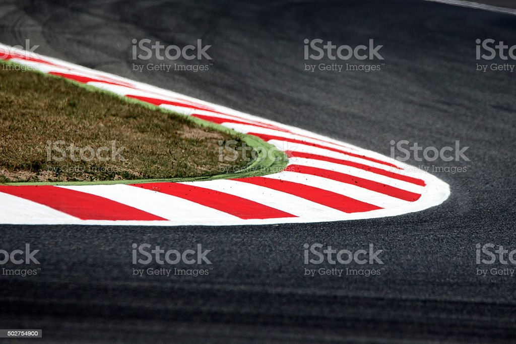 Racing Street corner stock photo
