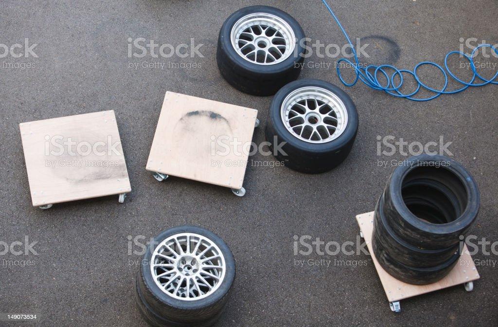 Racing Wheels royalty-free stock photo