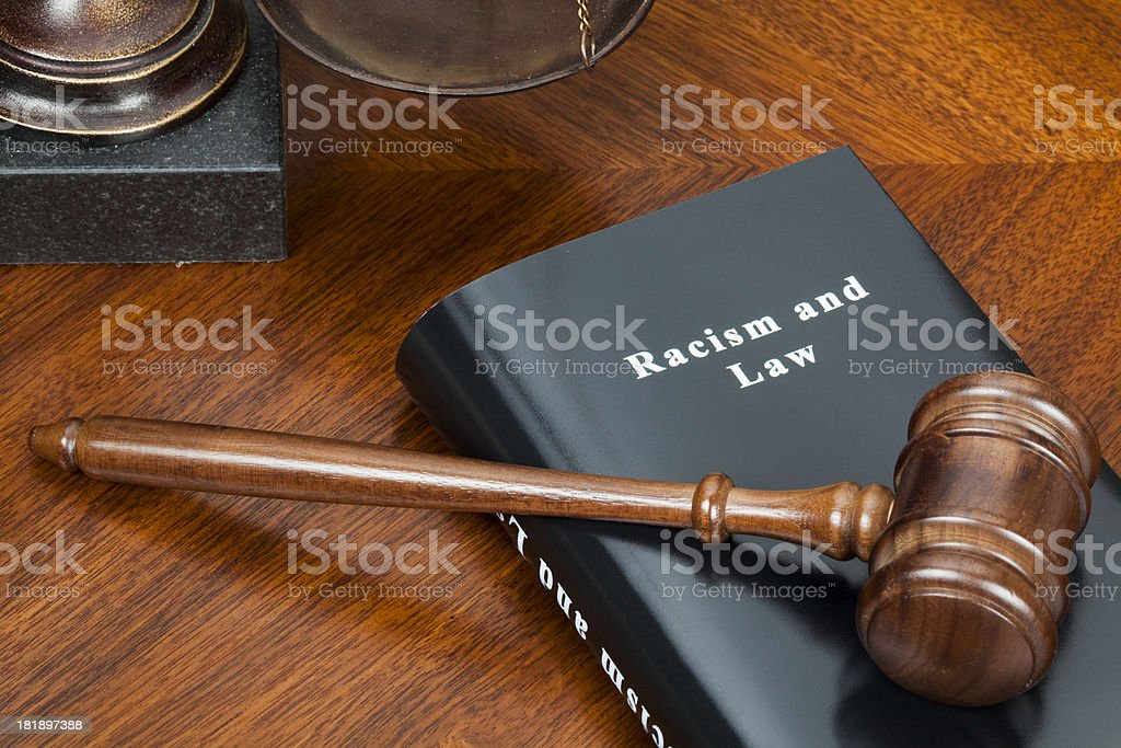 Racism and Law royalty-free stock photo
