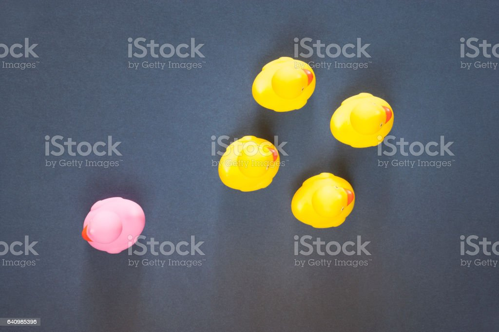 Racism, homophobia and discrimination concept stock photo