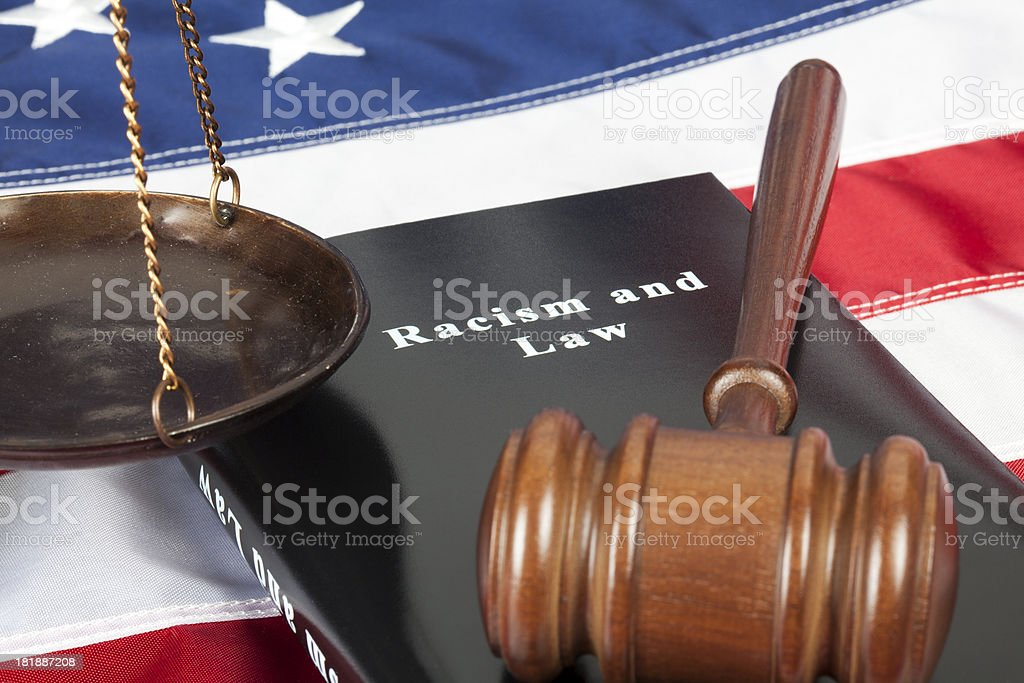 Racism in America royalty-free stock photo