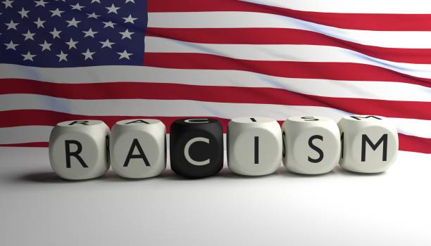 Racism in the USA stock photo