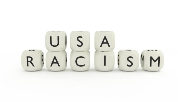 USA racism stock photo