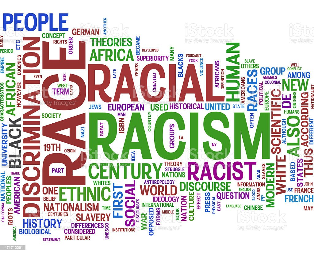 Racism royalty-free stock photo