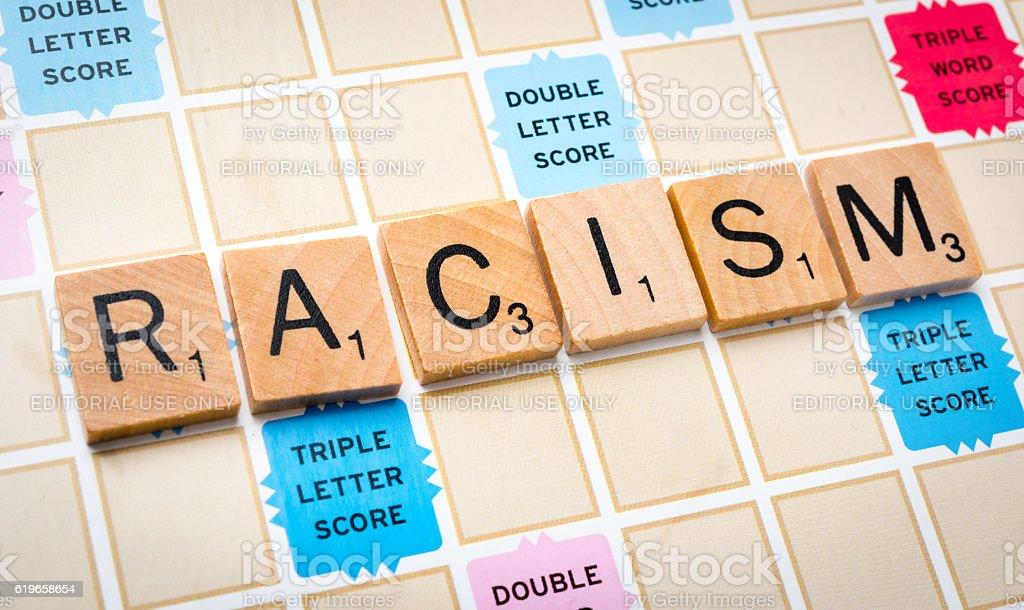 Racism stock photo