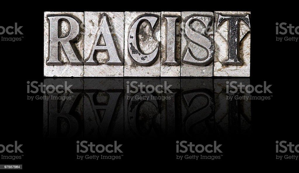 Racisme photo libre de droits