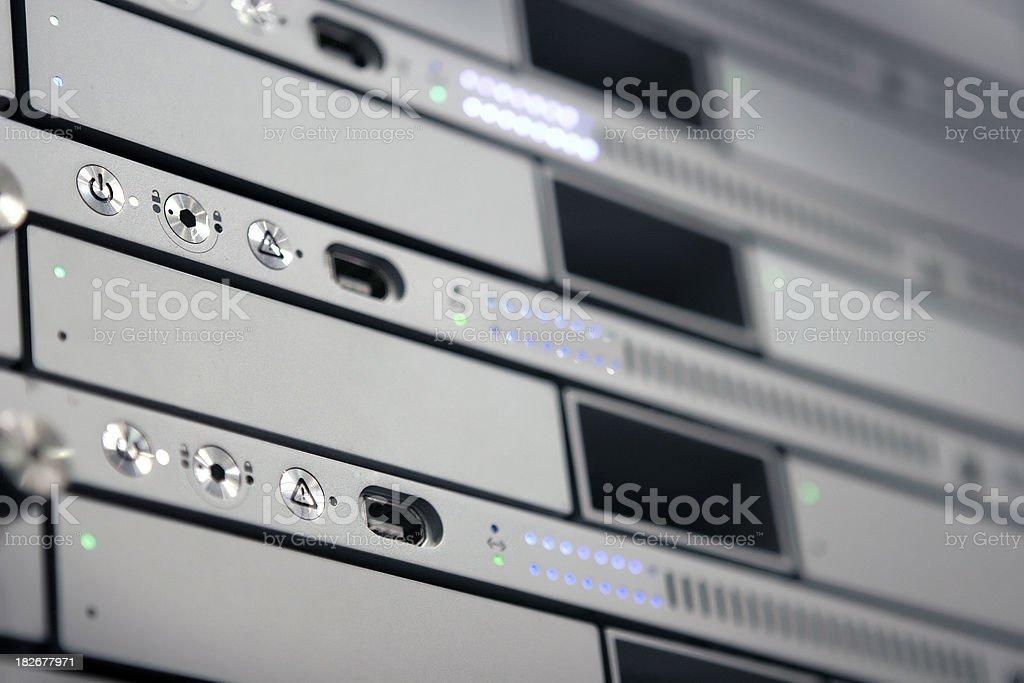 Rack Mounted Server royalty-free stock photo