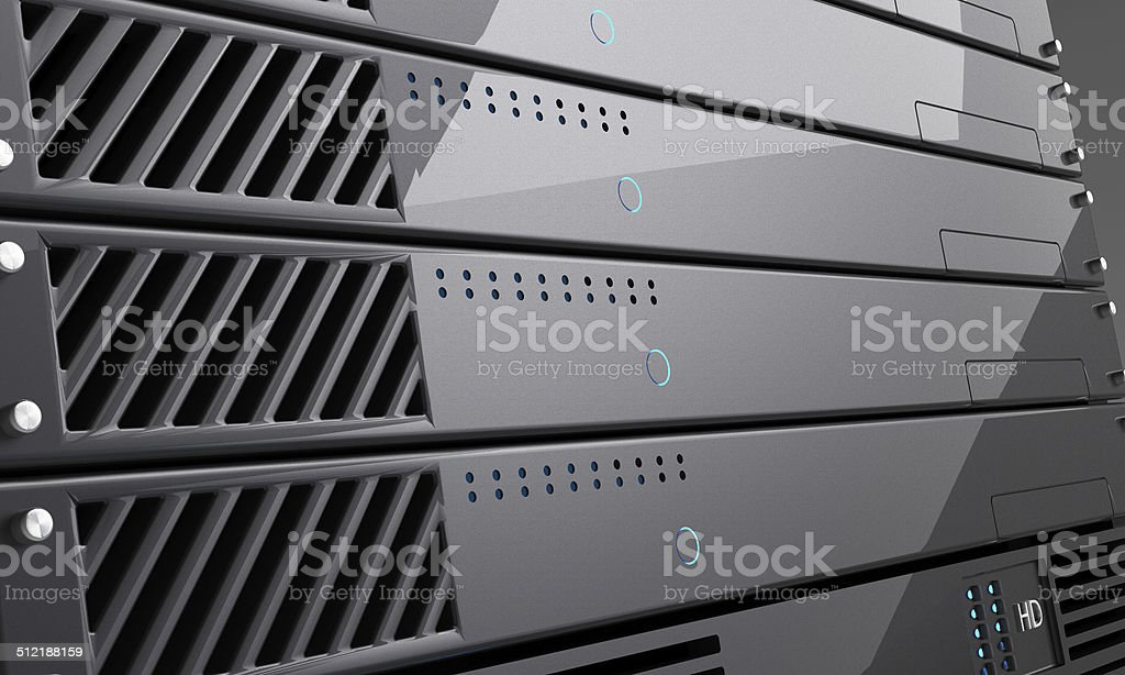 Rack of High Performance Servers stock photo