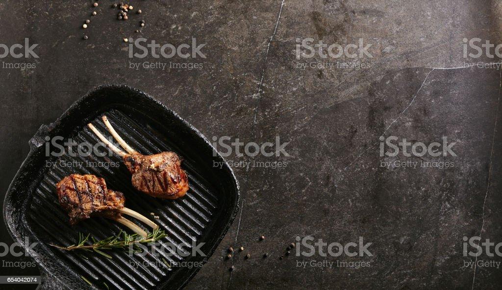 Rack of Lamb Barbecue stock photo
