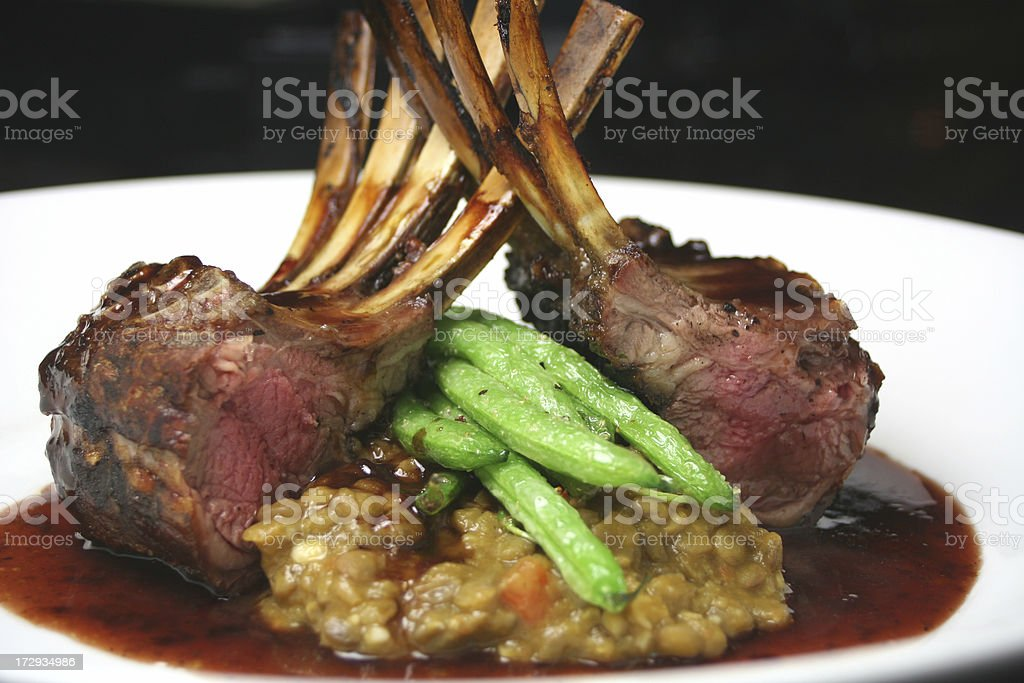 Rack of lamb royalty-free stock photo