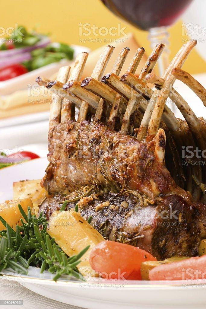 Rack of Lamb royalty-free stock photo